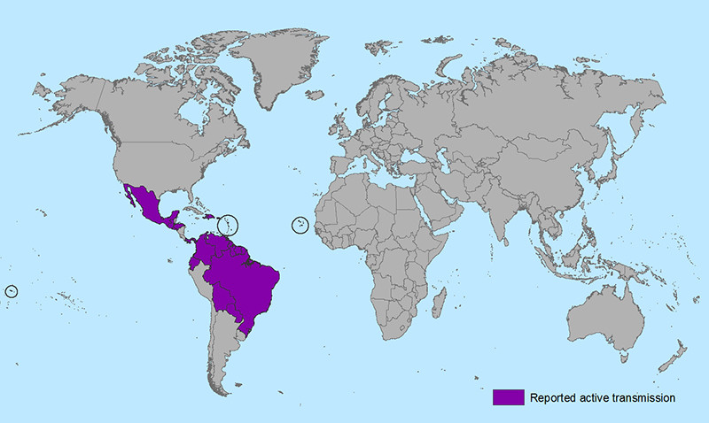 Zika Virus affected area