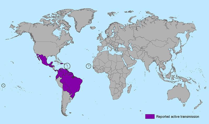 Zika Virus affected area